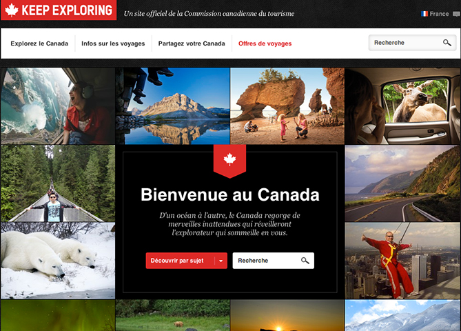 Canadian Tourism Commission Website