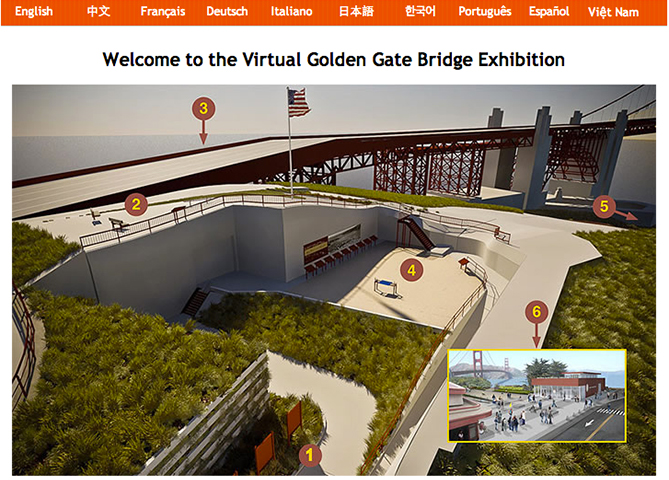 Golden Gate Bridge Virtual Exhibition
