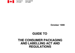consumer packaging and labelling requirements