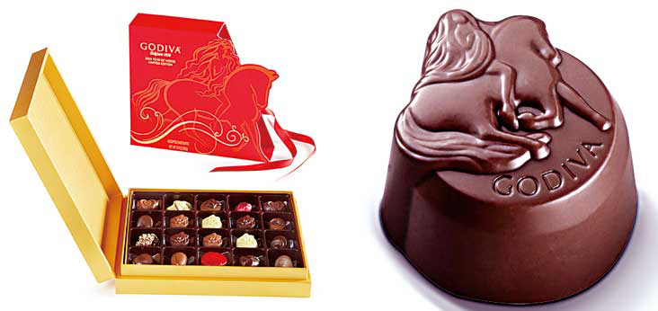 Godiva chocolates special packaging for Chinese New Year 2014, the year of the horse