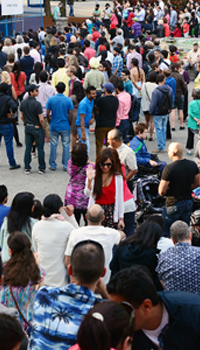 Crowd at the Vancouver Bhangra festival