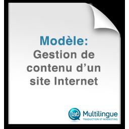 Modele de gestion de contenu d'un site internet