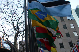 Flags at the Rockefeller Centre