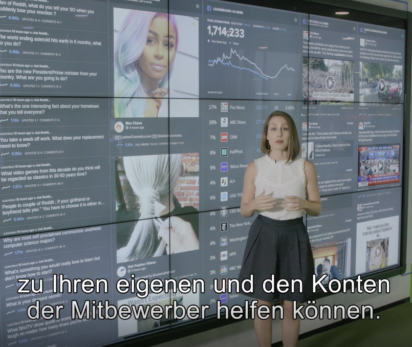 German video subtitles CrowdTangle